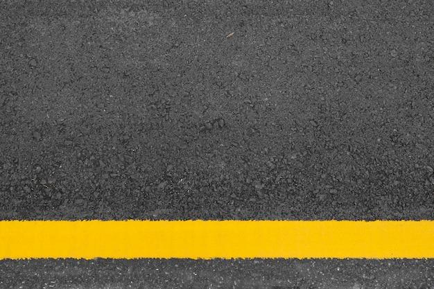 Struttura e fondo della strada asfaltata. posa piatta. vista dall'alto