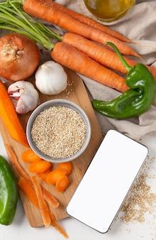 Assortimento di deliziose verdure crude