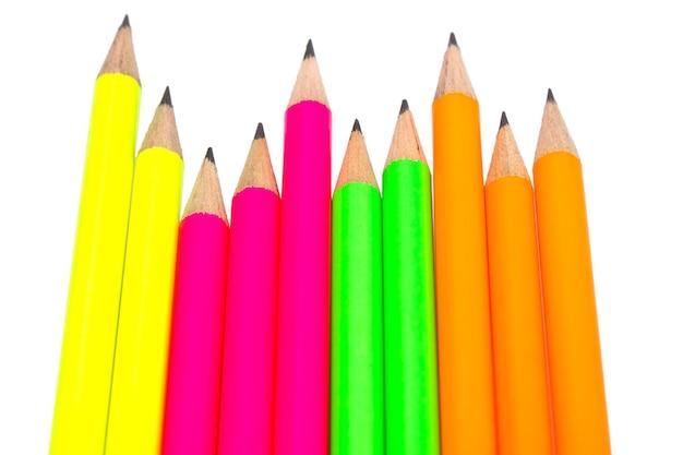 Assortimento di matite colorate fluorescenti