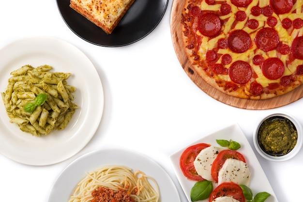 Assortimento di primi piatti italiani