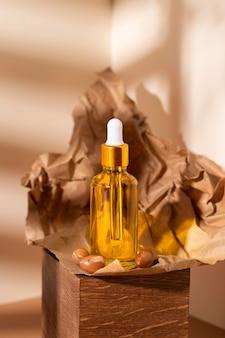 Assortimento di contagocce di olio di argan naturale