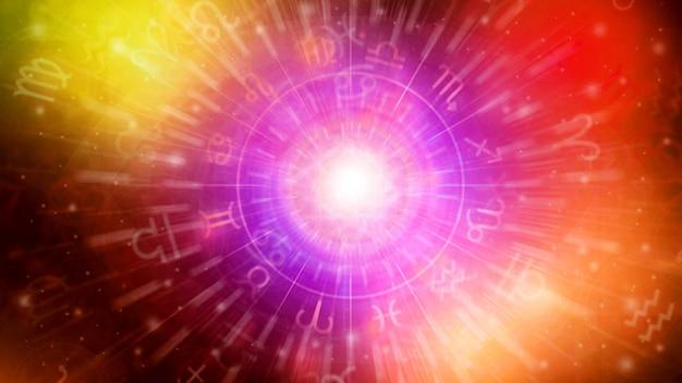 Fondo di struttura del modello dell'oroscopo di astrologia, progettazione grafica