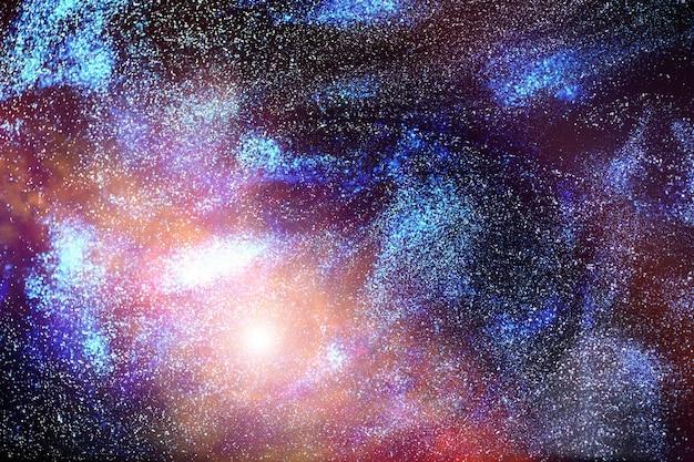 Fotografia astronomica dell'universo in una galassia lontana con nebulose e stelle