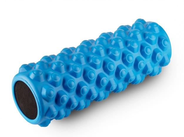 Rullo di massaggio atletico di colore blu