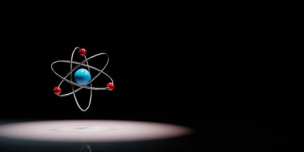 Simbolo dell'atomo sotto i riflettori isolato