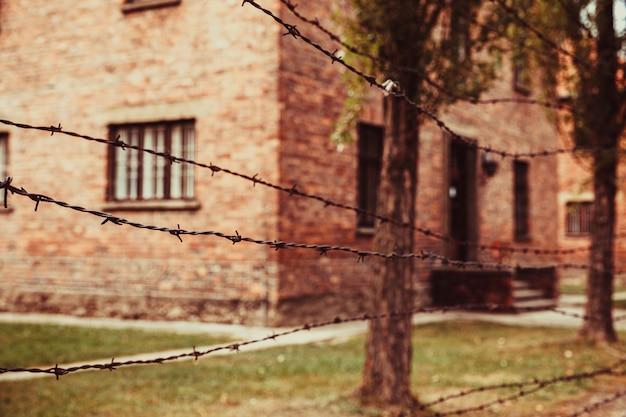 Museo del campo di concentramento nazista di auschwitz-birkenau in polonia
