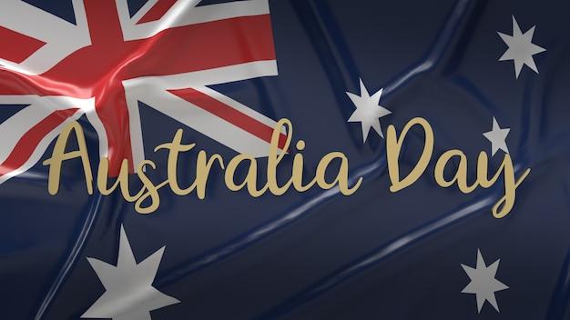 La mappa dell'australia e la parola per il rendering 3d dei contenuti di vacanza.