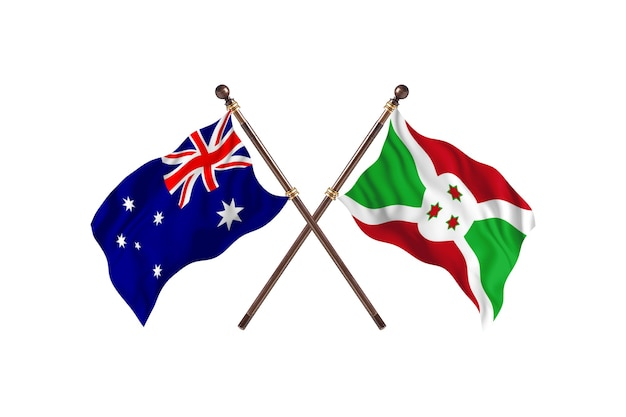 Sfondo di bandiere australia contro burundi Foto Premium