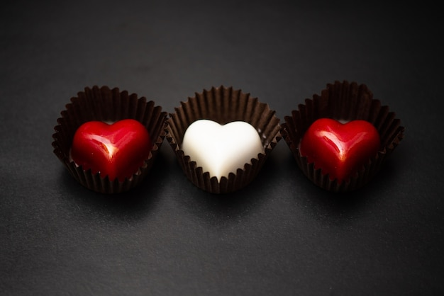 Caramelle fatte a mano d'autore a forma di cuore
