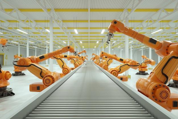 Catena di montaggio automatica in fabbrica