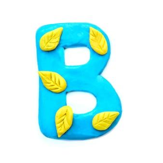 Lettera di plastilina autunno b dell'alfabeto inglese