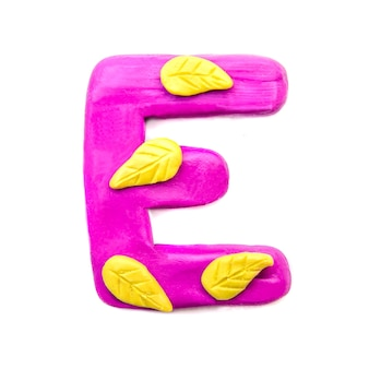 Lettera di plastilina autunno e dell'alfabeto inglese