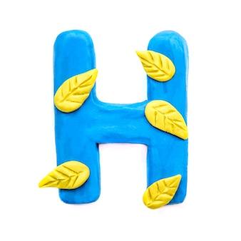 Lettera di plastilina autunnale h dell'alfabeto inglese