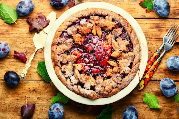 Plum cake rustico autunnale