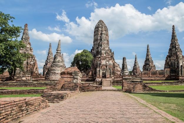 Parco storico di ayutthaya in tailandia