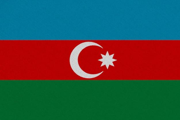 Bandiera azerbaigian in tessuto