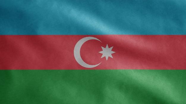 Bandiera azera che fluttua nel vento