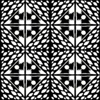 Modello senza cuciture dell'acquerello di azulejo. piastrelle di ceramica tradizionali portoghesi. fondo astratto disegnato a mano. opere d'arte ad acquerello per tessuti, carta da parati, stampa, design di costumi da bagno. modello azulejo nero.