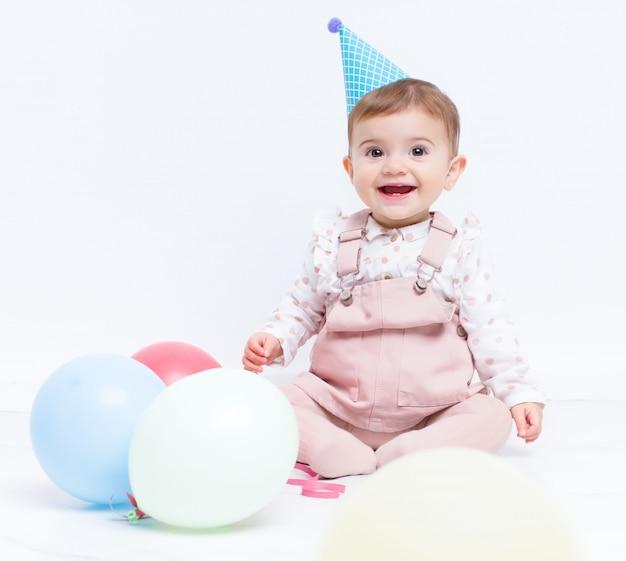 Festa di compleanno del bambino con palloncini