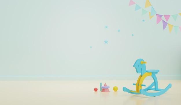 Interiore della stanza del bambino con sedia a dondolo