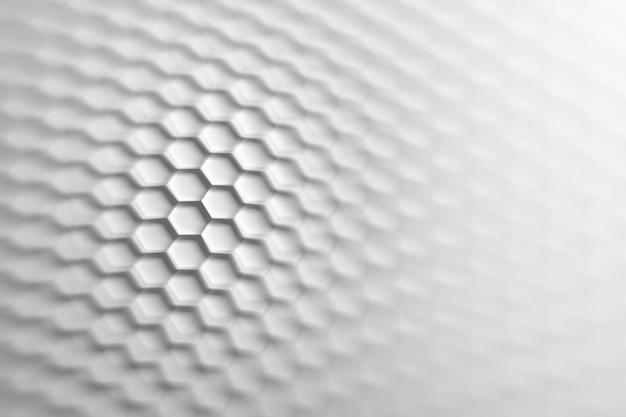 Backgound con griglia esagonale con effetto illusione ottica