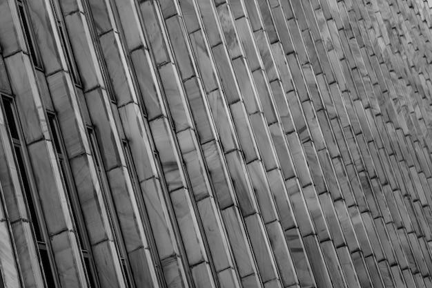 Sfondo muro di costruzione su bianco e nero
