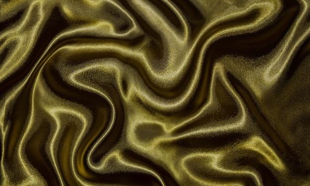 Sfondo di tessuto oro, texture di carta da parati agitando oro tessile.