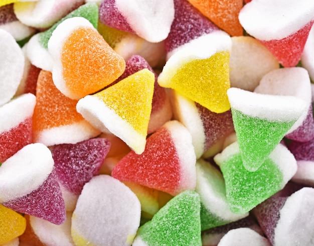 Frutta di gelatina di caramelle di sfondo
