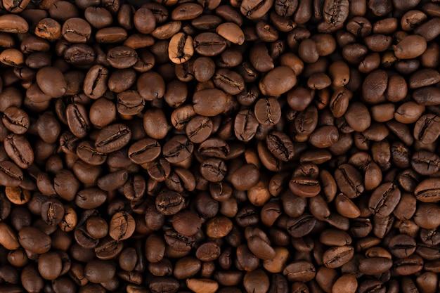 Sfondo chicchi di caffè da vicino