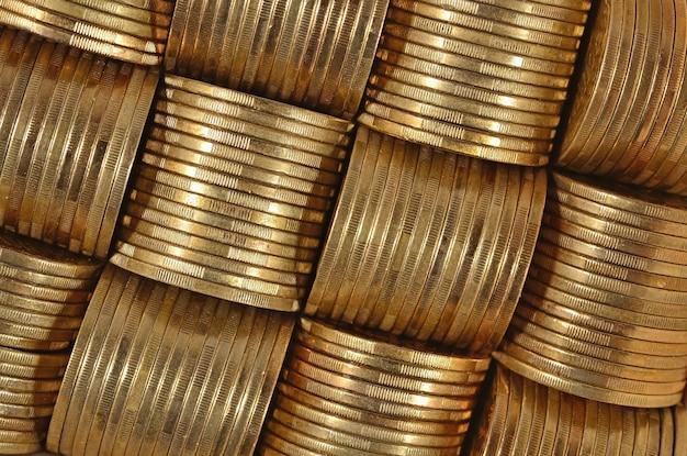 Sfondo delle monete da vicino