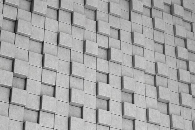 Sfondo di cubi di cemento astratto