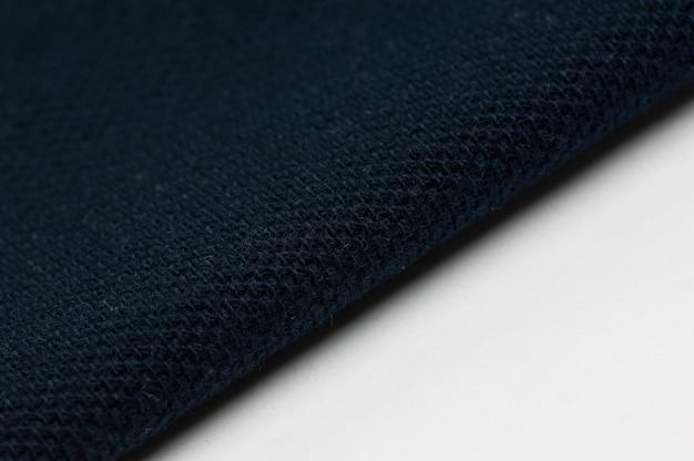 Sfondo di tessuto e tessuto di colore blu e bianco