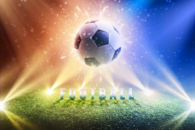 Sfondo di una tazza di calcio