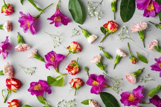 Sfondo di fiori freschi