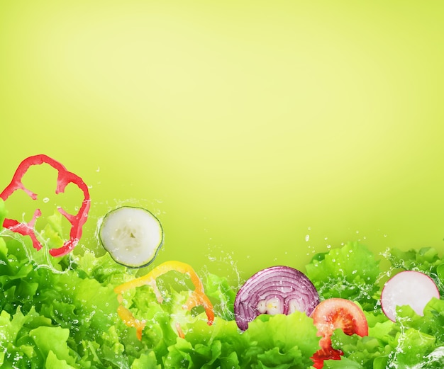 Sfondo di insalata fresca
