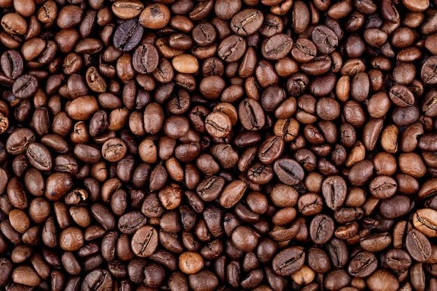 Sfondo di chicchi di caffè da vicino