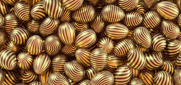 Sfondo da uova di pasqua d'oro.