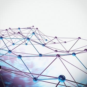 Sfondo di sfere di interconnessione collegate tra loro