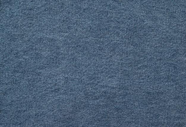Lo sfondo è costituito da un tessuto blu denim con texture brillante. tessuto popolare.