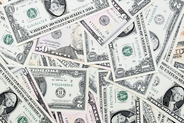 Sfondo. sono molti soldi (dollari).
