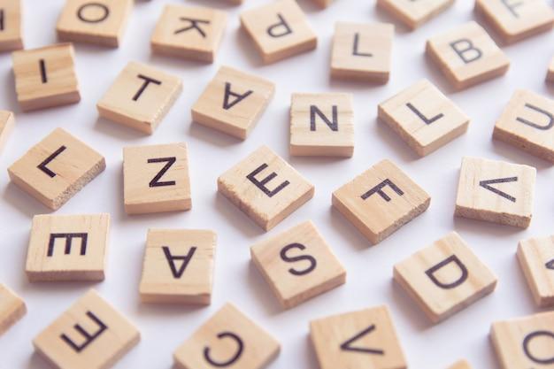 Sfondo di blocchi di stampa tipo legno tipografica