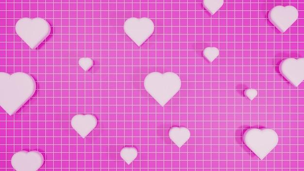 Sfondo amore 3d rendering
