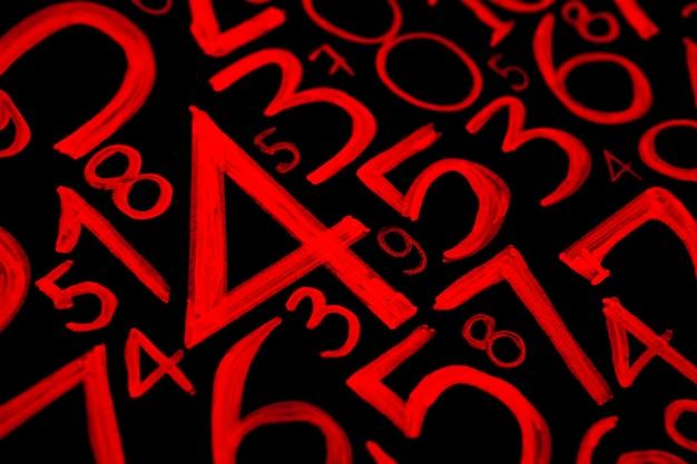 Sfondo di numeri da zero a nove texture di numeri concetto di dati di finanza matematic con concetto di crisi finanziaria di numeri successo aziendale