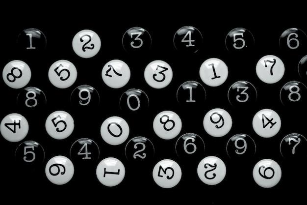 Sfondo di numeri. da zero a nove. consistenza dei numeri. concetto di dati finanziari. matematico.