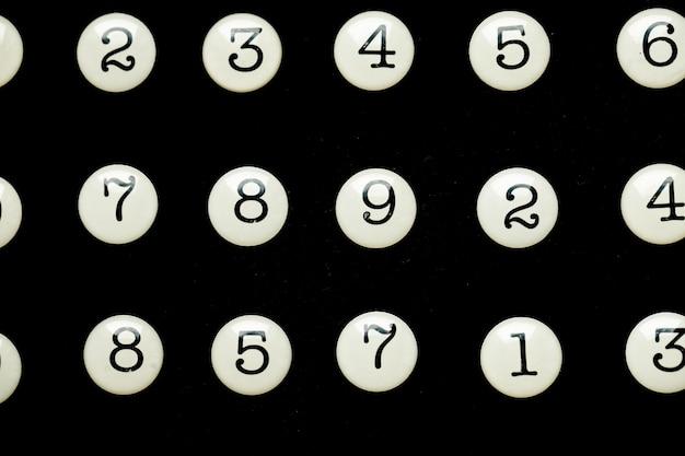 Sfondo di numeri da zero a nove trama di numeri concetto di dati di finanza