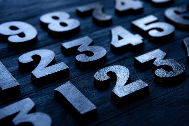 Sfondo di numeri da zero a nove