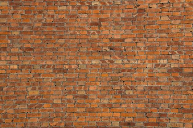 Sfondo del vecchio muro di mattoni rossi