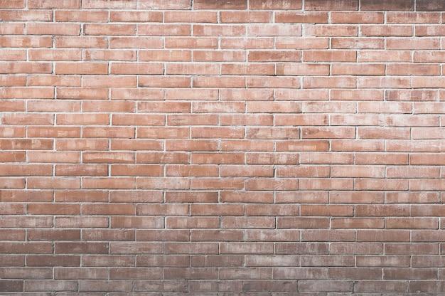 Sullo sfondo di un vecchio muro di mattoni d'epoca. superficie decorativa del muro di mattoni scuri per lo sfondo