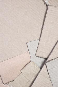 Sfondo di trame di carta accatastate pronto per riciclare
