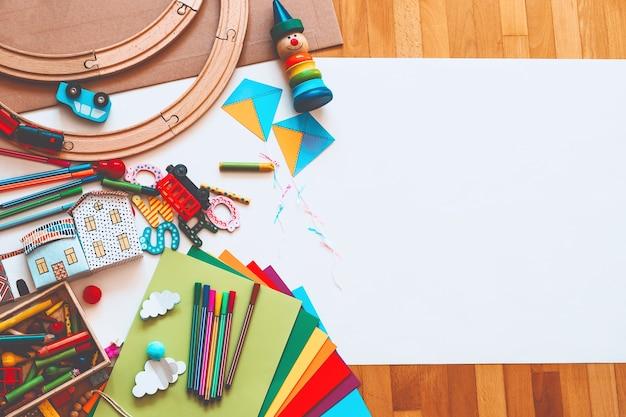 Sfondo per scuola materna o scuola materna o lezioni d'arte
